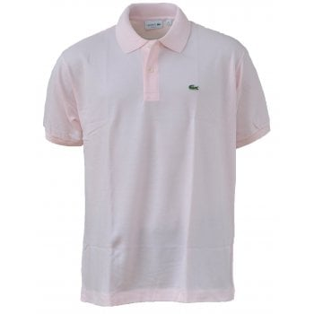Lacoste Classic Fit L.12.12 Men's Short Sleeve Baby Pink Polo Shirts (BX1)