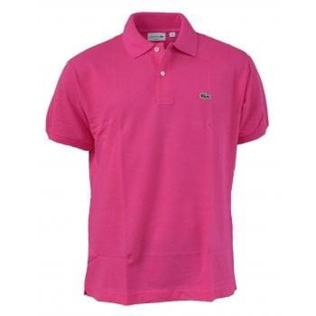 Lacoste Classic Fit L.12.12 Men's Short Sleeve Fuchsia Polo Shirts (BX1)