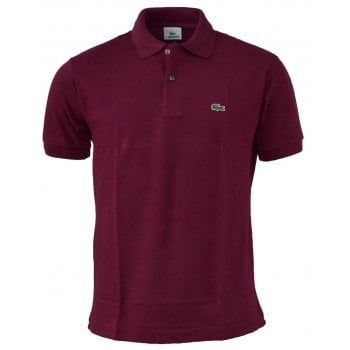Lacoste Classic Fit L.12.12 Men's Short Sleeve Maroon (DRD) Polo Shirts (BX1)