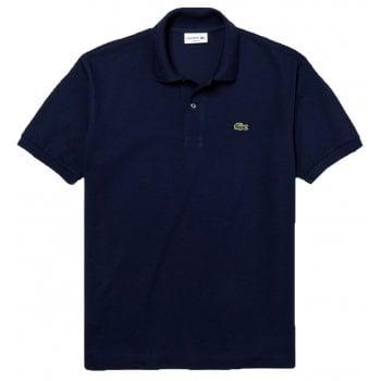 Lacoste Classic Fit L.12.12 Men's Short Sleeve Navy Blue (166) Polo Shirts (BX3)