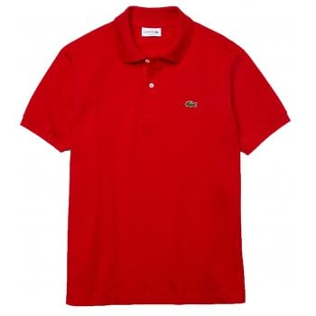 Lacoste Classic Fit L.12.12 Men's Short Sleeve Red (240) Polo Shirts (BX3)