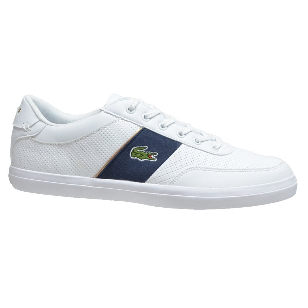 73ab72ced ... Lacoste Court Master 318 1 CAM White   Navy (N56) Mens Trainers ...