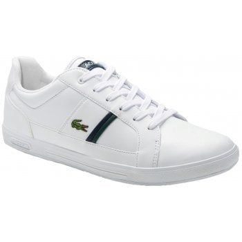 Lacoste Europa SMA White / Dk Green (N1) Mens Trainers