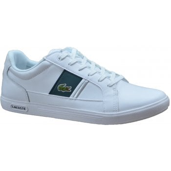 Lacoste Europa SMA White / Dk Green (N77) Mens Leather Trainers