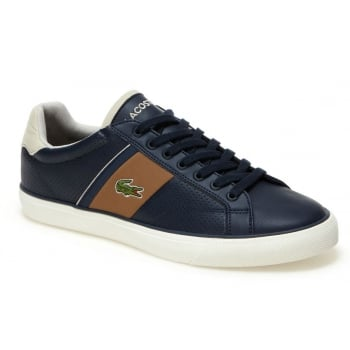 Lacoste Fairlead Navy / Lt Brown (SC1) 7-35CAM0038-4C1 Mens Leather Trainers