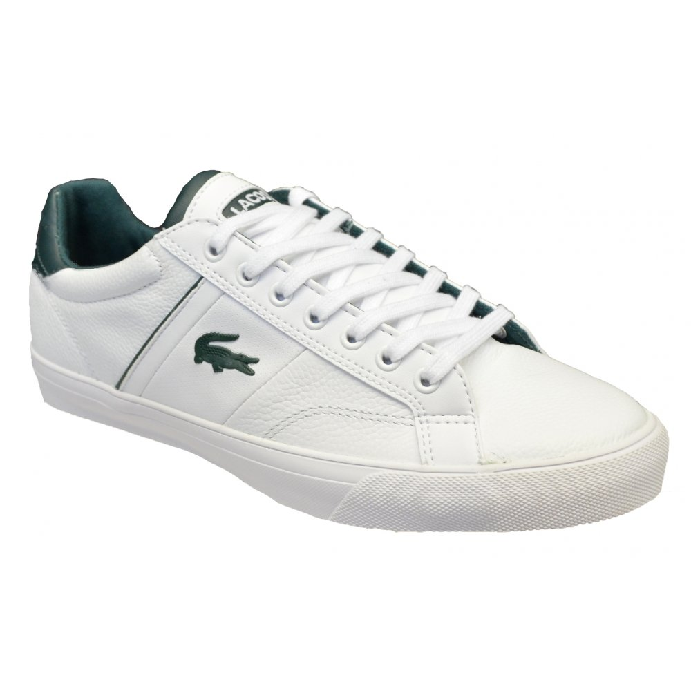 Lacoste Fairlead REI SPM White / White (G3) Mens Leather Trainers ...