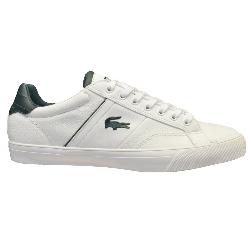 ... Lacoste Fairlead REI SPM White   White (G3) Mens Leather Trainers ... d0bb5048bd