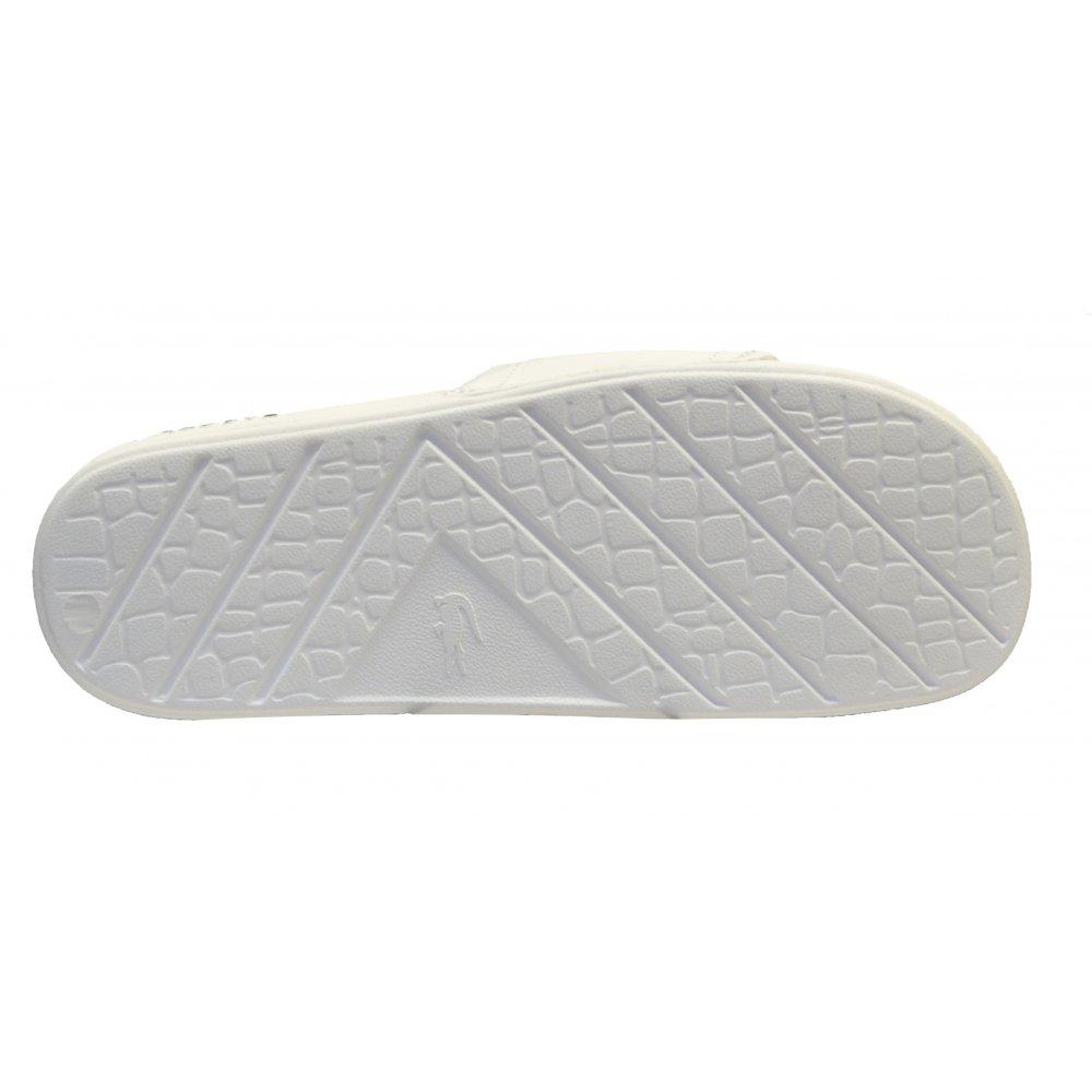 24bf8b8df5f Lacoste Lacoste Fraisier BRD1 US SPM White   Green (UX1) Mens Sandal ...