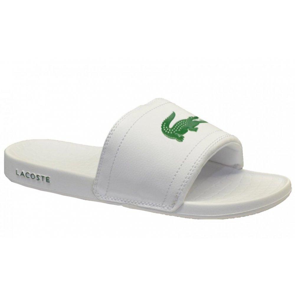 1ca1019e4c1472 Lacoste Lacoste Fraisier BRD1 US SPM White   Green (UX1) Mens Sandal ...
