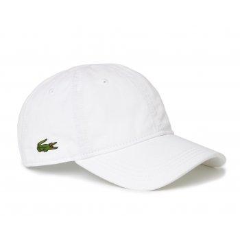Lacoste Gabardine White RK9811-001 (CAB-3) Mens Caps