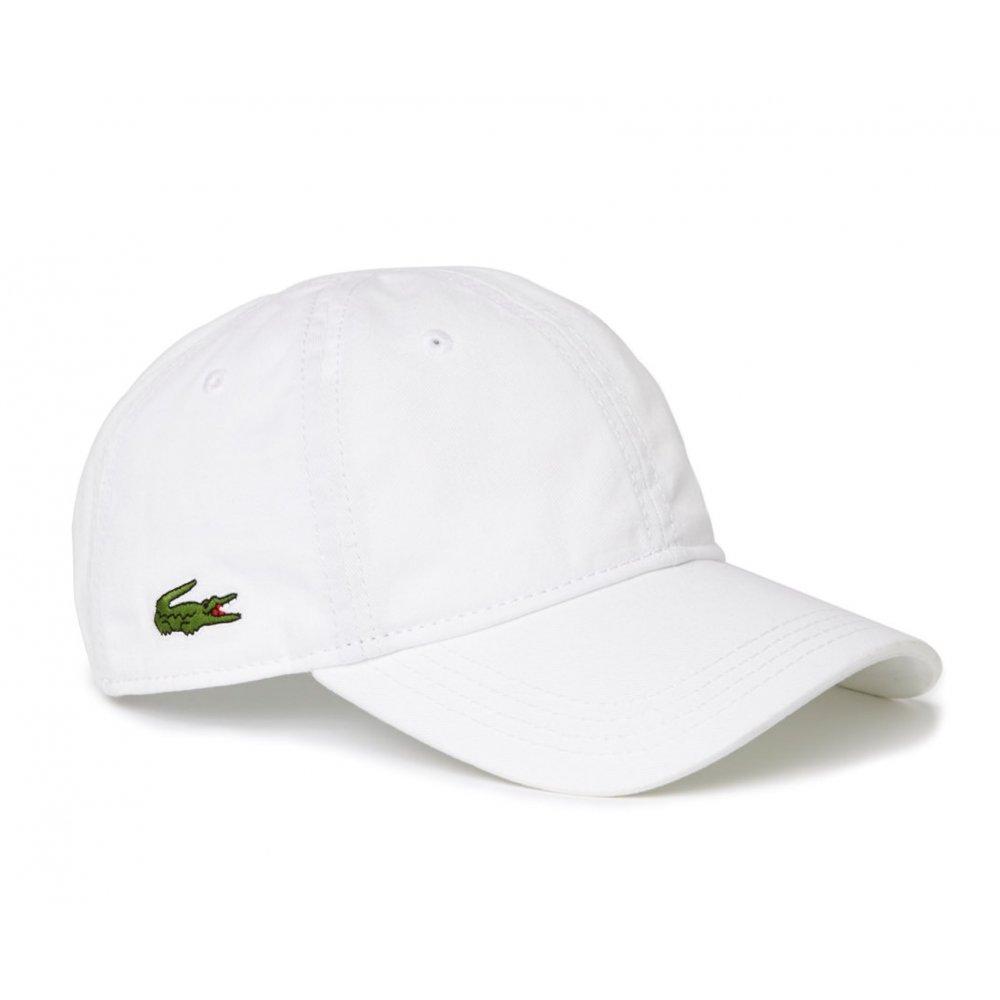 5e414c87eb Lacoste Lacoste Gabardine White RK9811-001 (CAB-3) Mens Caps ...