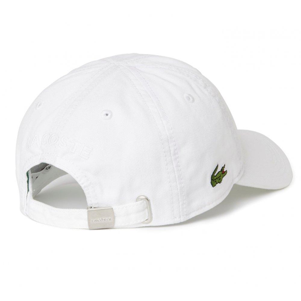 Lacoste Lacoste Gabardine White RK9811-001 (CAB-3) Mens Caps ... 2d0fb7d924d