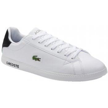 Lacoste Graduate White / Black (F1) 7-40SMA0075147 Mens Trainers
