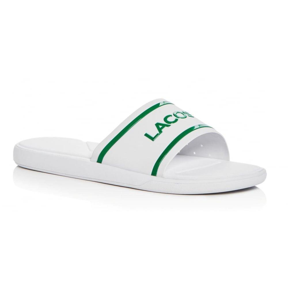 30b9b69d547c Lacoste L30 Slide 118 2 CAM White   Green (G1) 7-35CAM0061-082 Mens Sandal