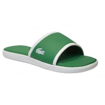 Lacoste L30 Slide 317 1 CAM White / Green (SC4) 7-34CAM0036 082 Mens Sandal