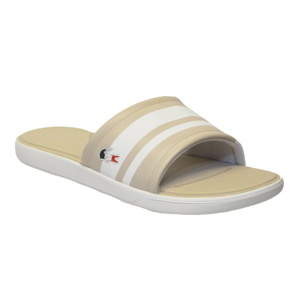 48f44c9b3 Lacoste L30 Slide 317 1 CAW Light Grey (B23) 7-34CAW0022 334 Womens Sandal