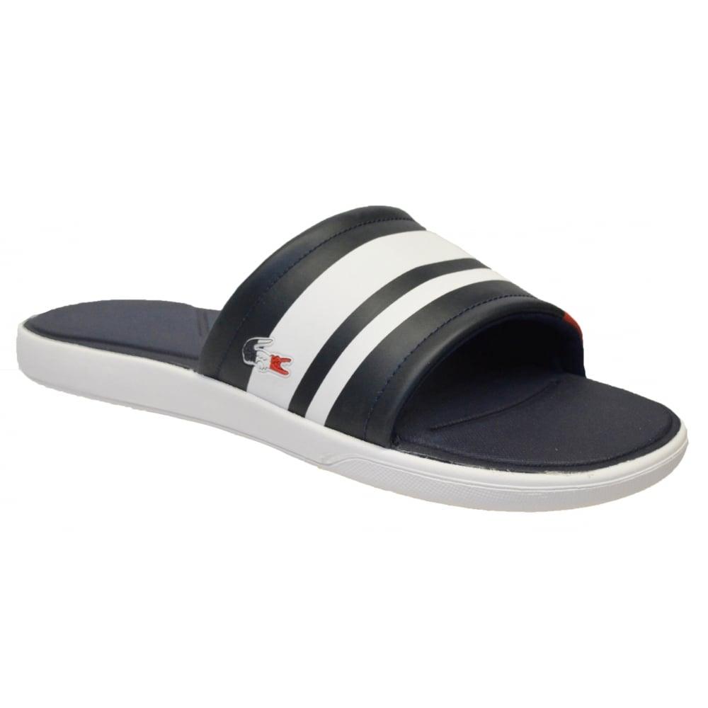 432f7bcfe96cd Lacoste L30 Slide 317 1 CAW Navy (N86) 7-34CAW0022-003 Womens Sandal