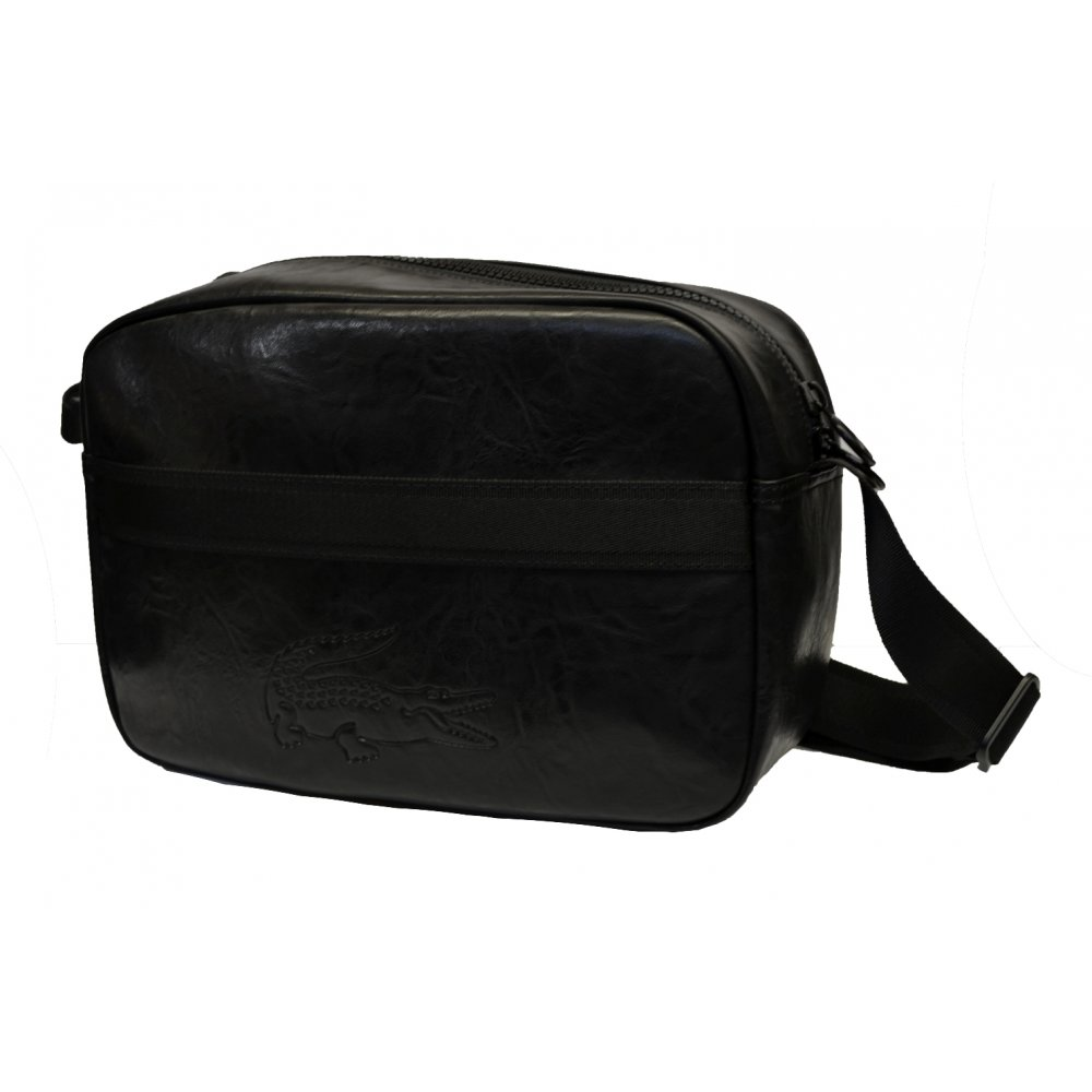 Lacoste Lacoste Airline / Messenger NH0698SR Black (B6) Mens Bag ...