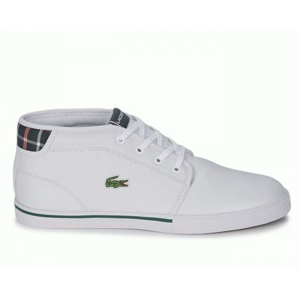 cdfd88076526f2 Lacoste Lacoste Ampthill LUP SPM White   White (N6) Mens Trainers ...