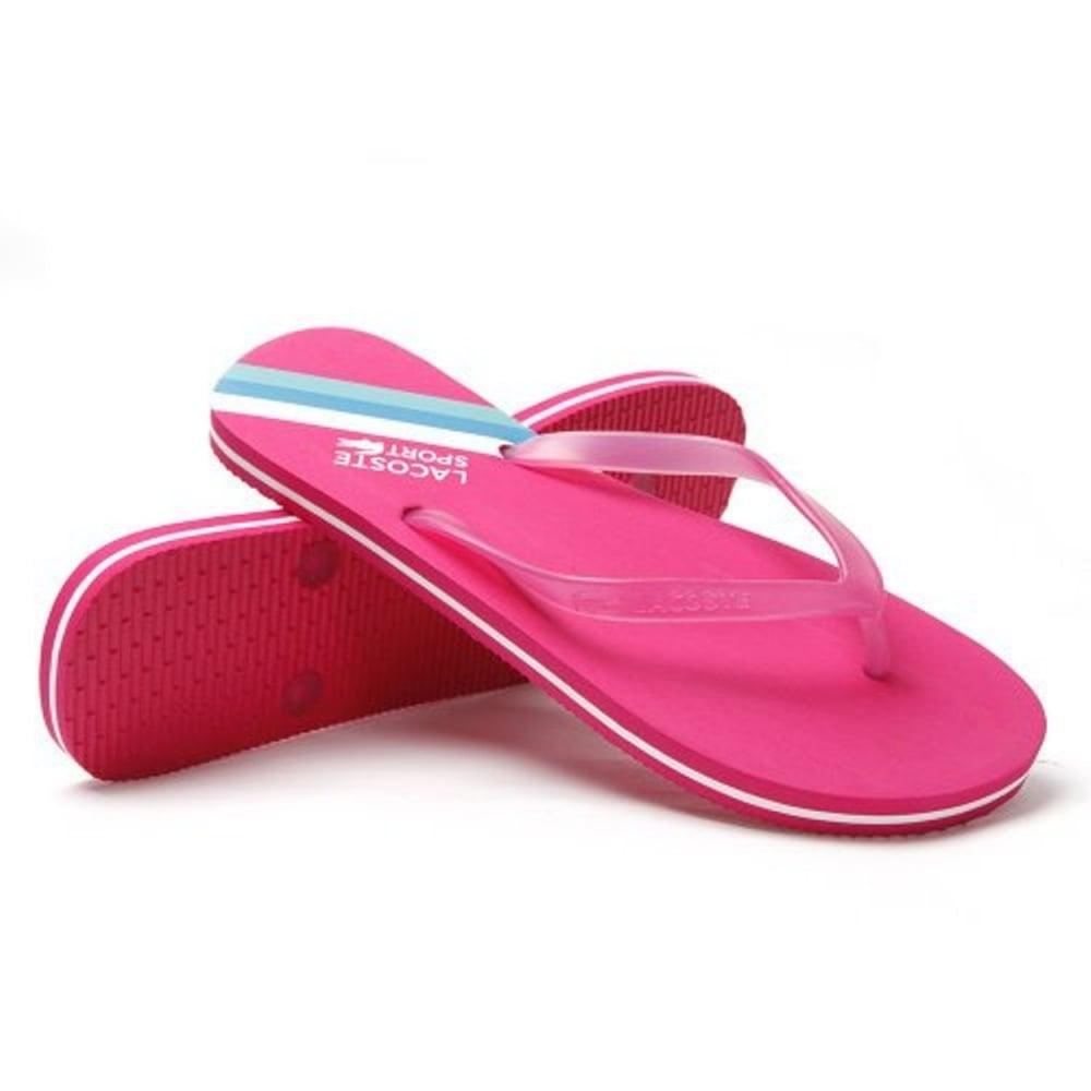 10deca8e82de Lacoste ancelle jaw pink white ux ladies flip flop zoom jpg 1000x1000  Lacoste ladies sandals
