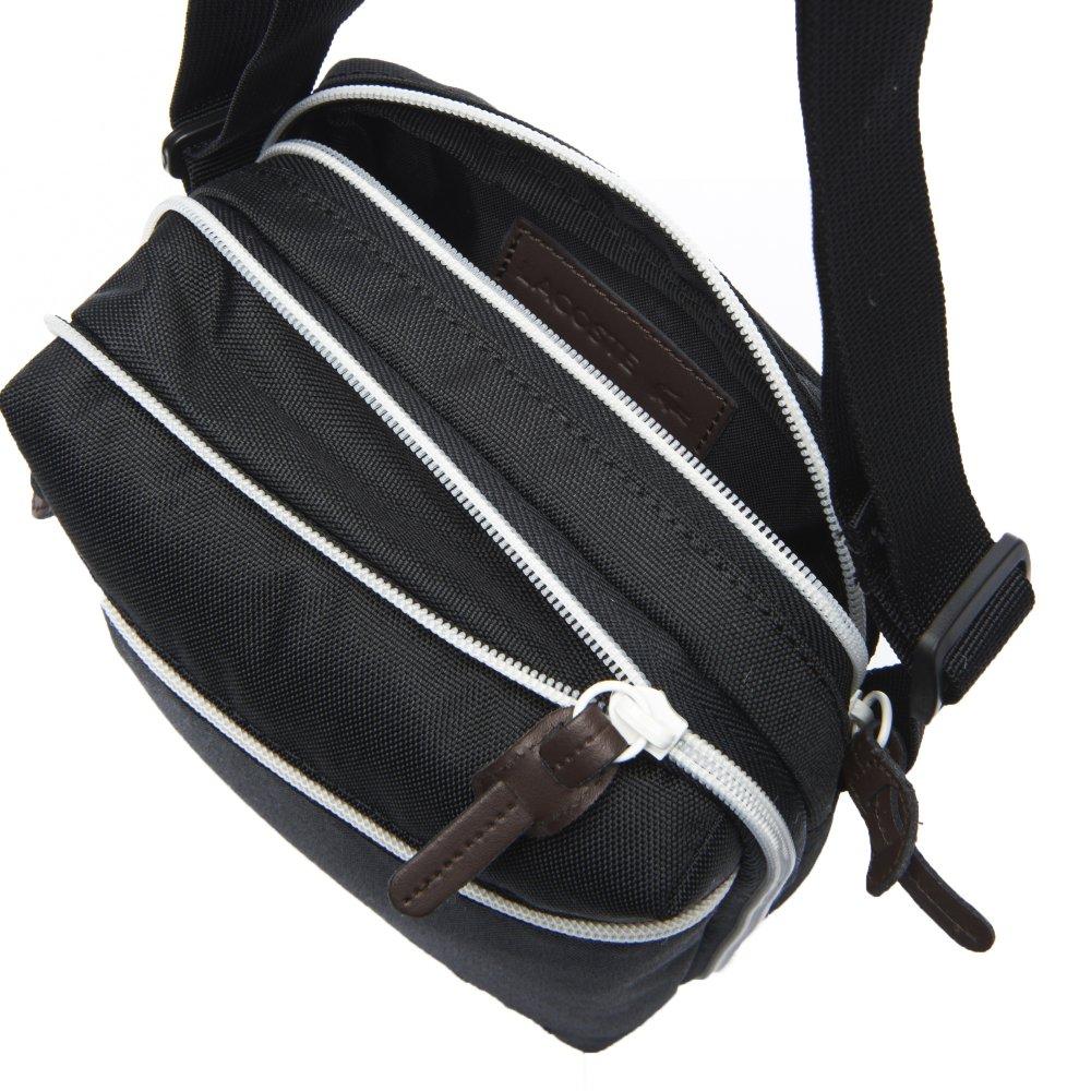 c3a0721c0e Lacoste Lacoste Backcroc Satchel Black White Mens Bag - Lacoste from ...