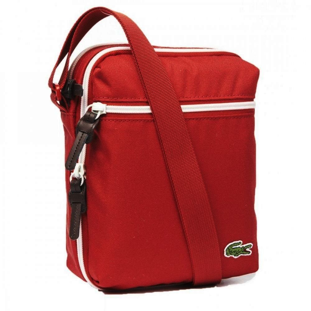0fa83bff85 Lacoste Lacoste Backcroc Tango Red NH1000CP-274 Man Bag - Lacoste ...