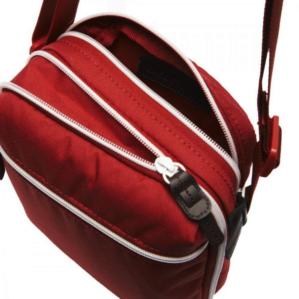 839c9de6ae83 Lacoste Lacoste Backcroc Tango Red NH1000CP-274 Man Bag - Lacoste ...