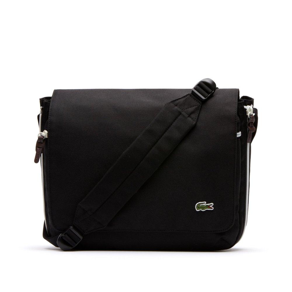 60271cc2b Lacoste Lacoste Backroc NH1146CP Black   White (A12) Messenger Bag ...