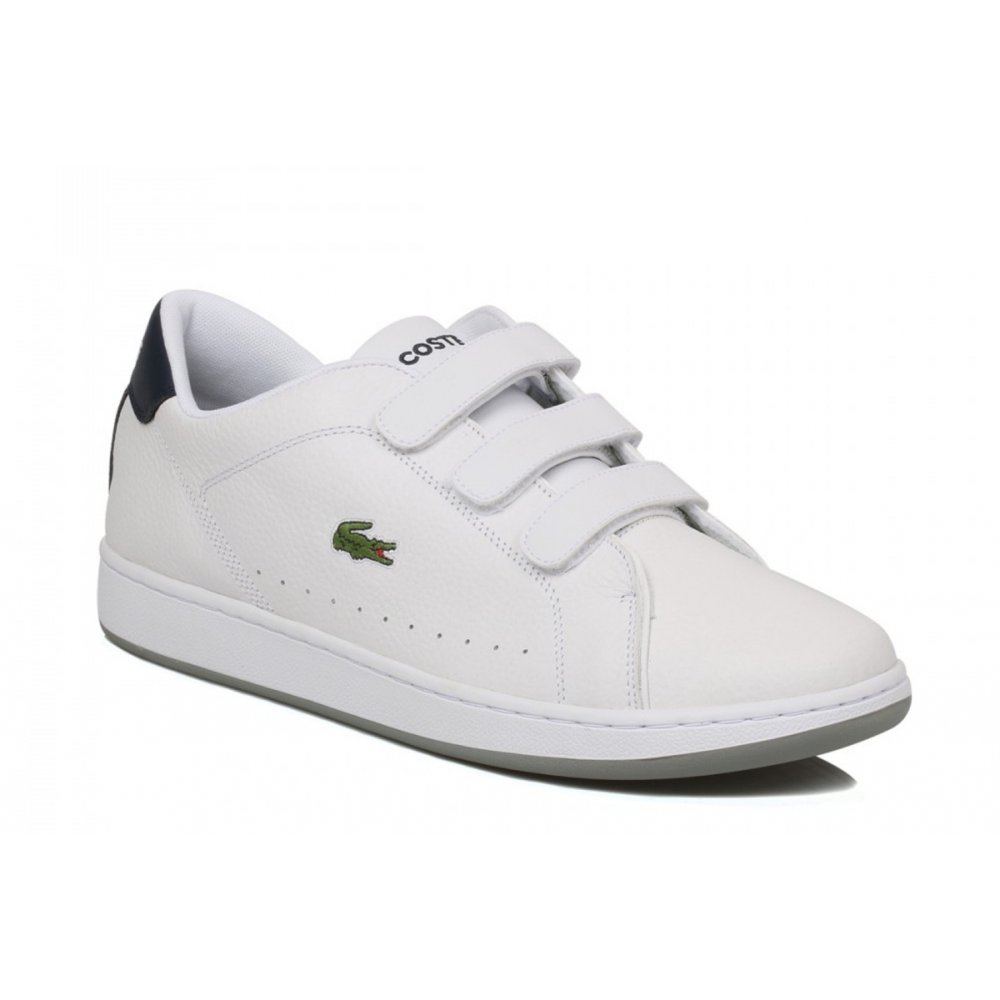 29c287b6aa06ff Lacoste Lacoste Camden LCR SPM White   Dark Blue (GD1) Mens Trainers ...