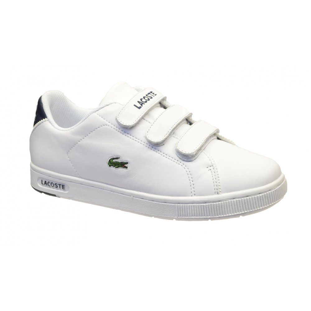 04680b5c0 Lacoste Camden Retro White   Navy (OSF-a) Juniors   Older Boys Trainers