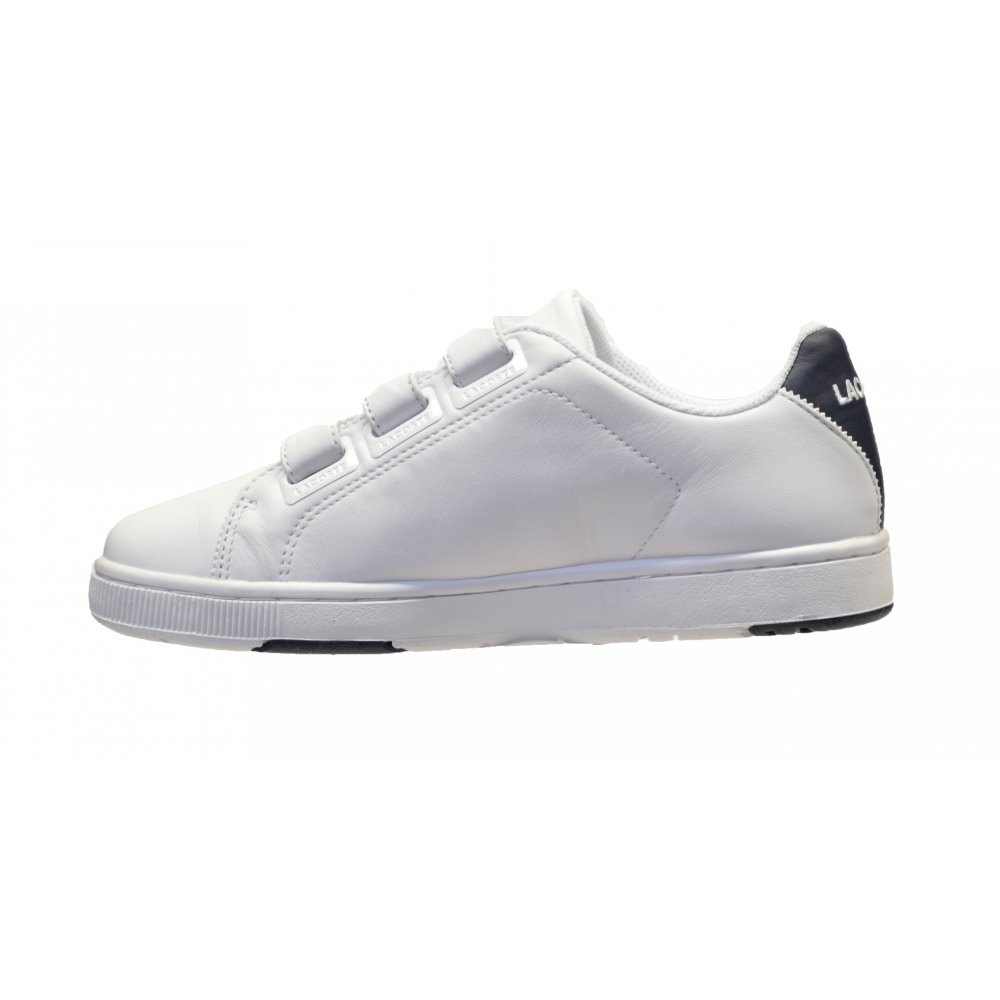 ec0f7ccac ... Lacoste Camden Retro White   Navy (OSF-a) Juniors   Older Boys Trainers.  ‹