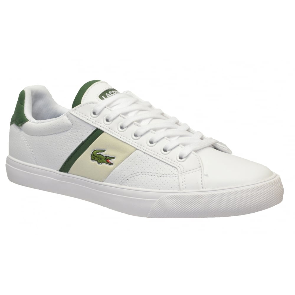 Lacoste Fairlead 116 1 SPM White N72 Mens Leather Trainers