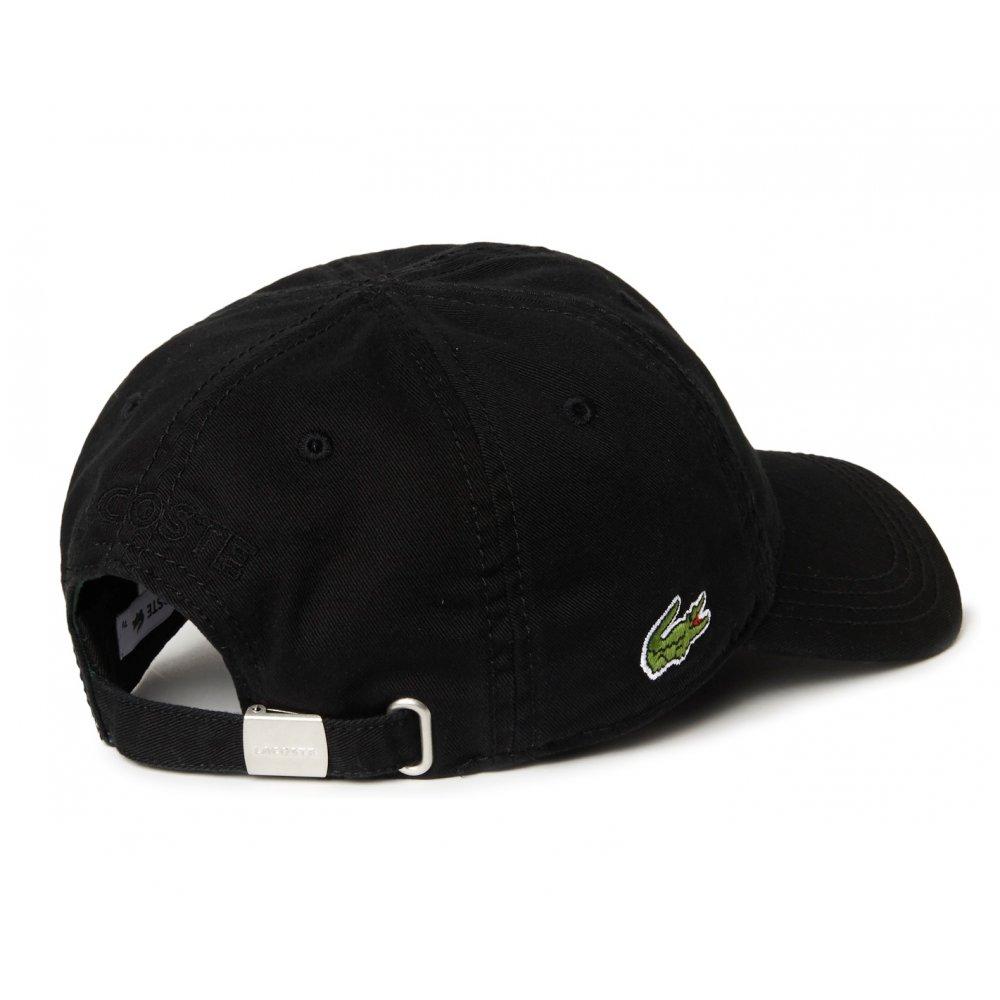 Lacoste Lacoste Gabardine Noir   Black RK9811-031 (CAB-2) Mens Caps ... e3cf1d4855d