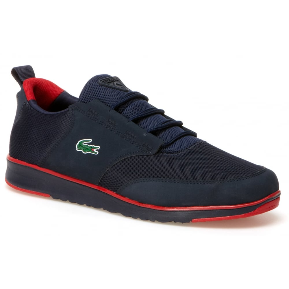 Lacoste Lacoste Light 116 1 SPM Navy (N86) Mens Trainers ...