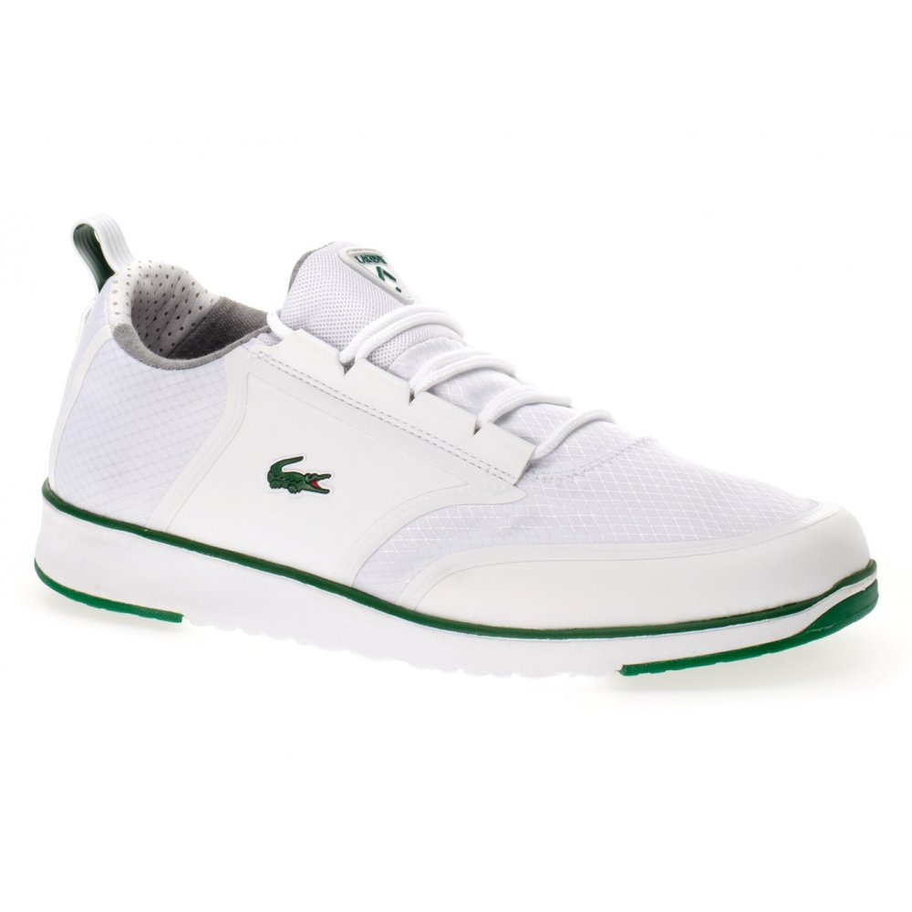 Lacoste Light LT12 SPM White  Green SCA1 Mens Trainers
