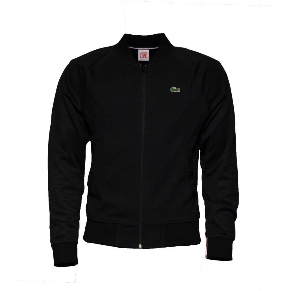 lacoste lacoste live bomber sh8242 031 noir black b13 mens jacket lacoste from pure brands. Black Bedroom Furniture Sets. Home Design Ideas
