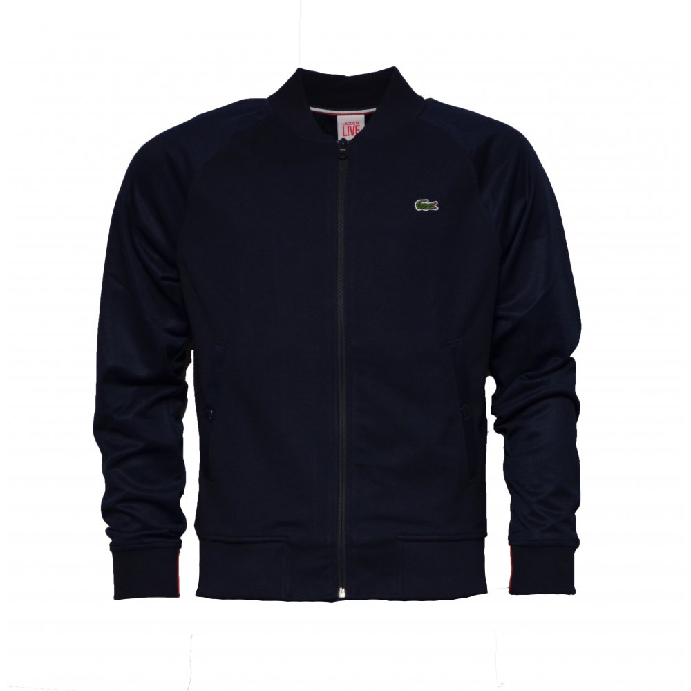 lacoste lacoste live bomber sh8242 166 navy marine b26 mens jacket lacoste from pure. Black Bedroom Furniture Sets. Home Design Ideas