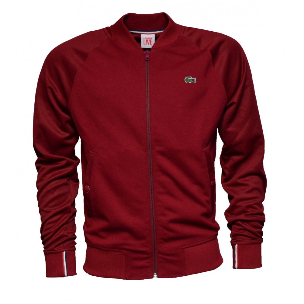 lacoste lacoste live bomber sh8242 476 bordeaux b13 mens jacket lacoste from pure brands uk uk. Black Bedroom Furniture Sets. Home Design Ideas