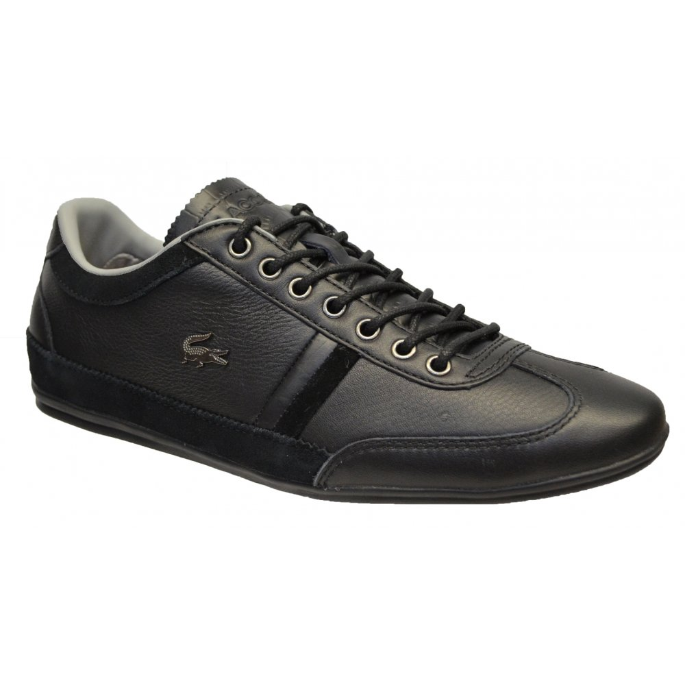 360a060927b8a2 Lacoste Lacoste Misano 36 SRM Leather   Suede Black (N7a) Mens Trainers -  Lacoste from Pure Brands UK UK