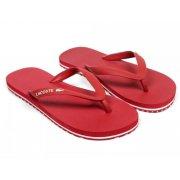 Lacoste Nosara LCR SPM Dark Red / White (U1) Mens Flip Flop