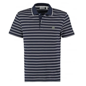 Lacoste PH6997-525 Marine / Blanc (B21) Mens Stripe Polo
