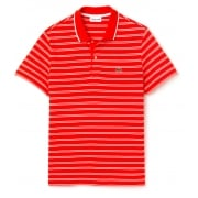 Lacoste PH6997-GA9 Etna / Blanc (B21) Mens Stripe Polo