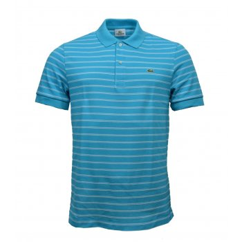 Lacoste Lacoste PH9508-VCP Hawaien / Blanc (A18) Mens Stripe Polo All Sizes
