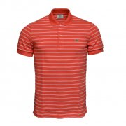 Lacoste PH9508-X10 Goyave / Blanc Mens Stripe (A18) Polo All Sizes