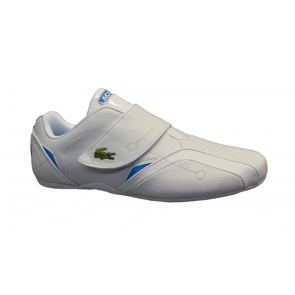 ee1b0de4f374f6 Lacoste Lacoste Protect AUR SPM White   Blue (OSF-a) Mens Trainers ...