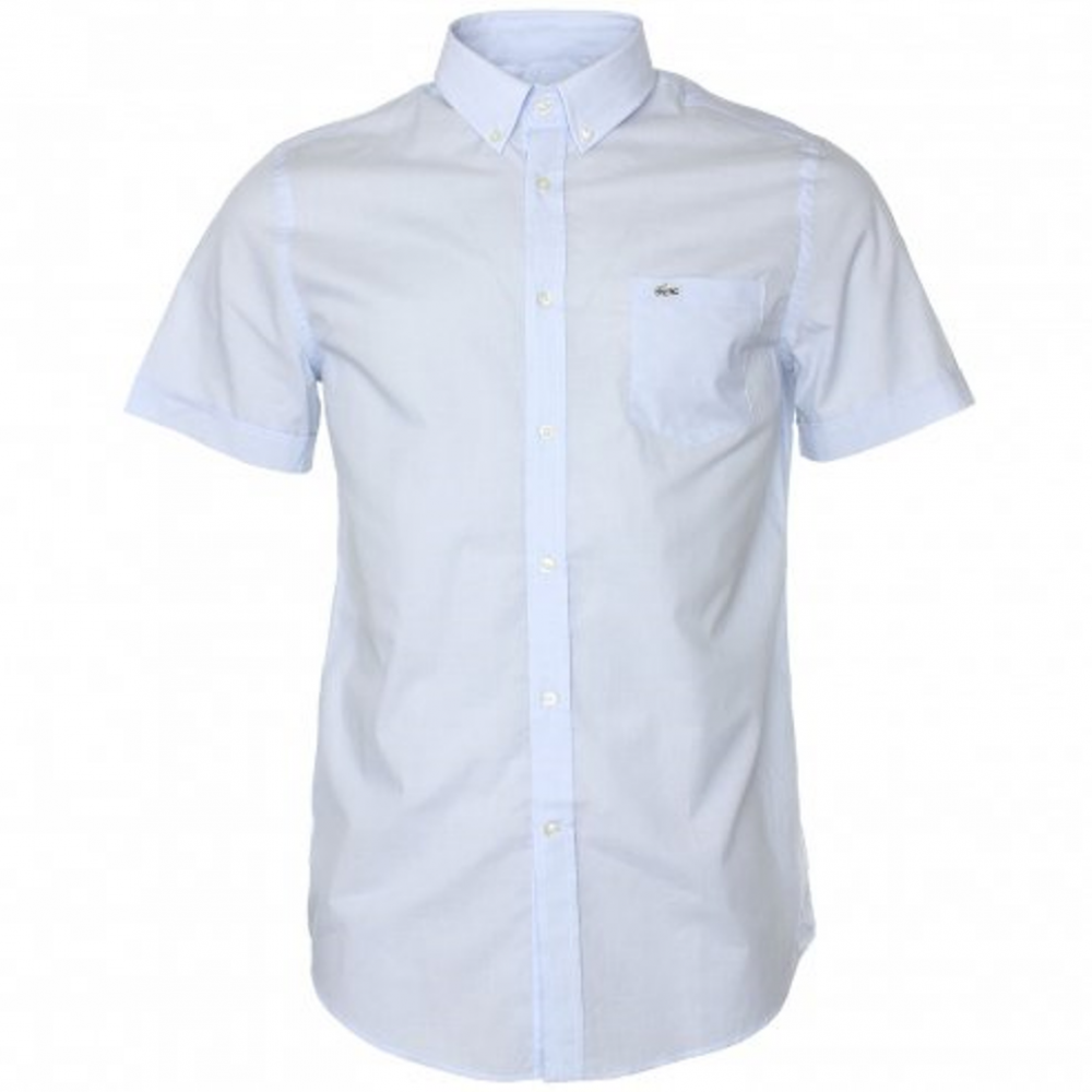 Lacoste Short Sleeve Light Blue A15 Ch8517 Lp3 Mens Shirts