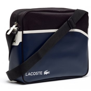 Lacoste ULTIMUM Peacoat Black White (P20) NH086OUT-721 Airline / Messenger Bag