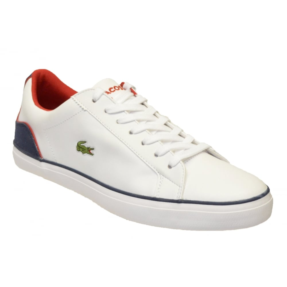 80be43ac2b50a Lacoste LEROND 317 1 CAM White   Navy (N76) 7-34CAM0041042 Mens Trainers