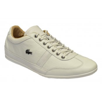 Lacoste Misano 36 SRM Textured Leather / Suede Off White (N13) Mens Trainers