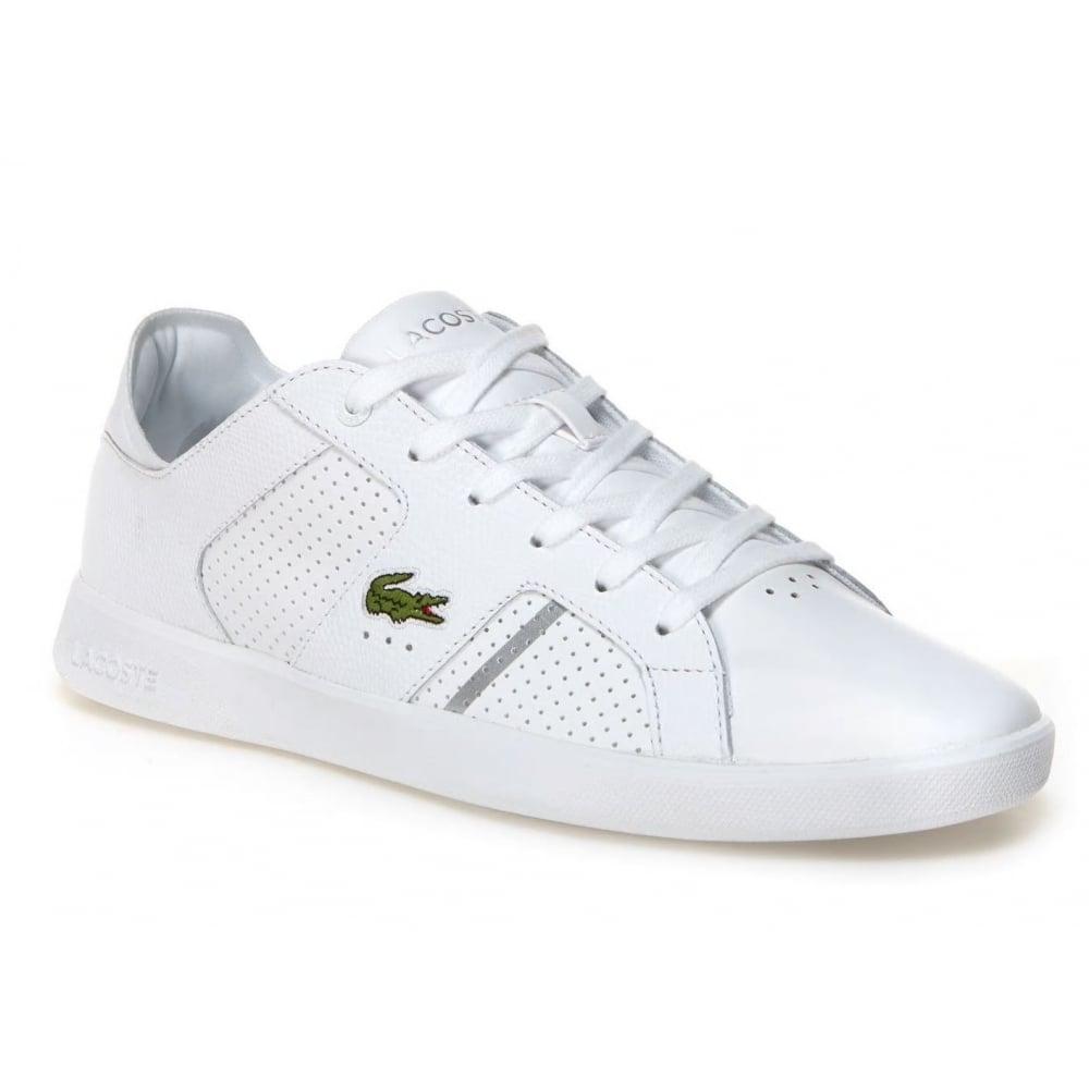 12e1cc270579e7 Lacoste Lacoste Novas CT 118 2 SPM White   Silver (A6) Mens Trainers ...